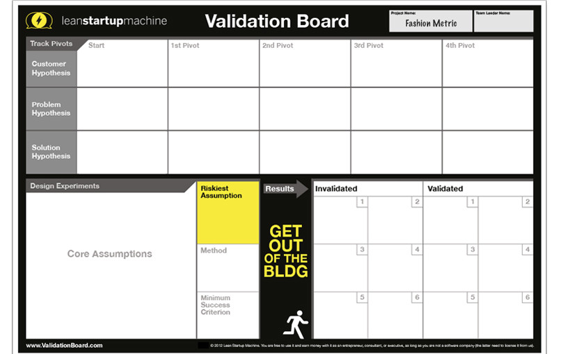 Lean Startup y su «validation machine»
